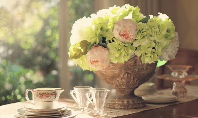 arranjos florais na decoração