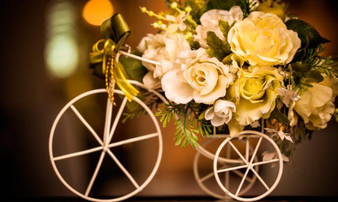 flores artificiais para festas