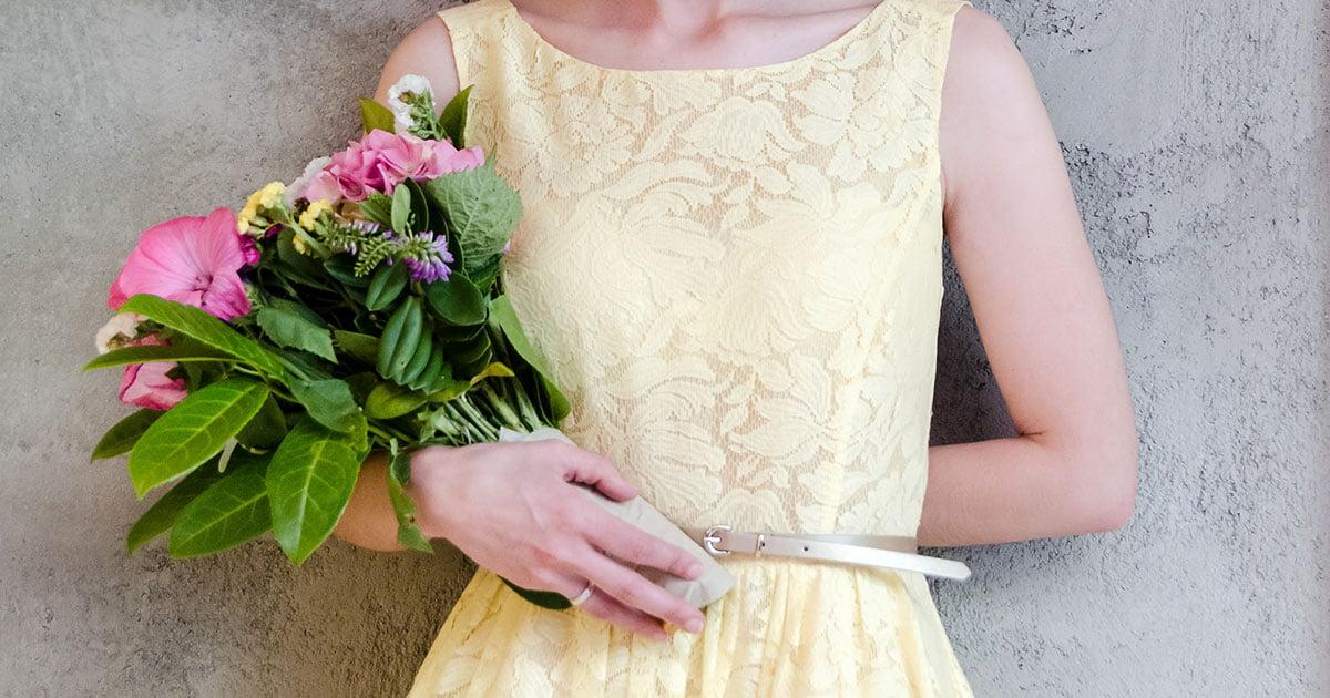 Buquê de flores artificiais para namorada