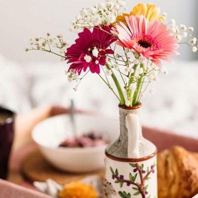 Gerbera buquê de flores artificiais para namorada