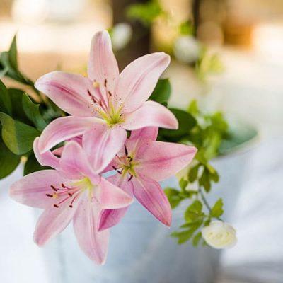Lírio buquê de flores artificiais para namorada