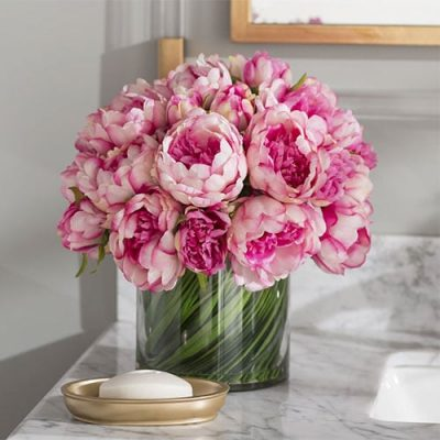 Peônia buquê de flores artificiais para namorada