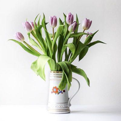 Tulipa buquê de flores artificiais para namorada