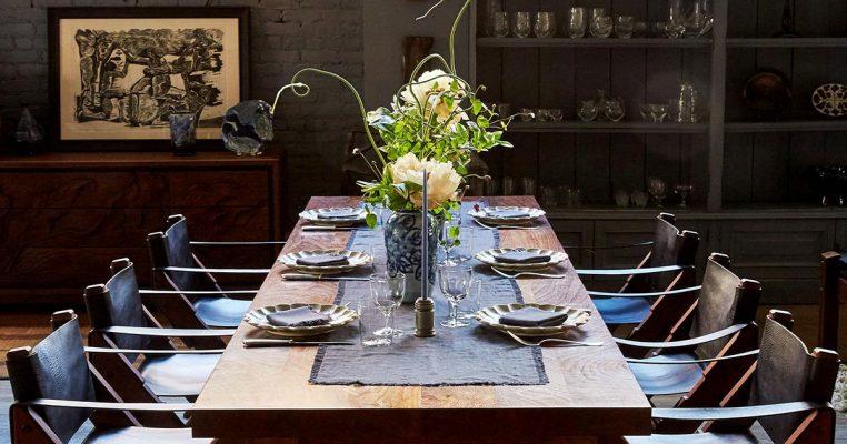 arranjo de flores artificiais para mesa de jantar