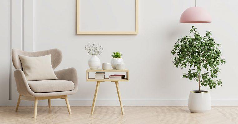 Vasos com plantas artificiais para sala - Crysmax