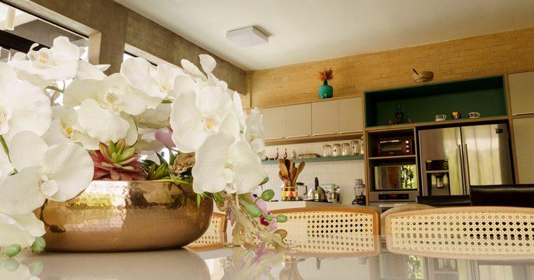 Arranjos de orquídeas artificiais para mesa de jantar - Crysmax