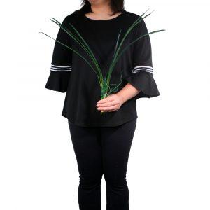 Folha de Orquídea 88cm c/raiz de silicone Artificial verde