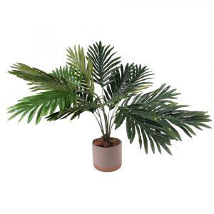 Planta de Folhas Verdes Artificial Decorativa 66cm