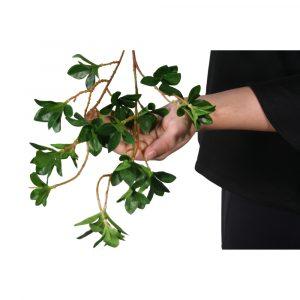 Haste de Folhagem 65cm Artificial verde p/ decoração