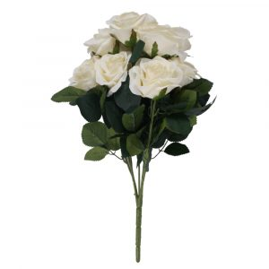 Buquê Rosa Diamante 45cm Artificial p/ Decoração