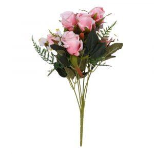 Buquê de Rosa 33cm Artificial para decoração