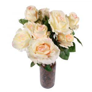 Buquê de Rosas Artificial 50cm 10 Botões