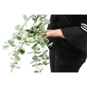 Haste de Eucalipto Grande 110cm Artificial Verde Decoração