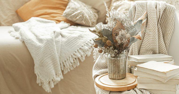 Arranjo de flores secas - Crysmax