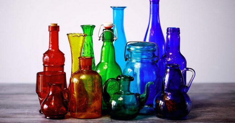 Decoração com garrafa de vidro - Crysmax