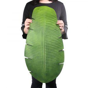 Sousplat Folha de Bananeira 64cm Artificial Verde Decoração