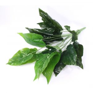 Buquê Folhas de Antúrios 55cm Artificial Verde Decoração