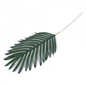 Haste de palmeira silicone 54cm Artificial Verde p/ Decoração