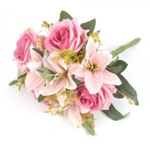 Buquê de Lírio com Rosas Artificial