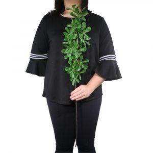 Haste de Folhas Pequenas 85cm Artificial Verde p/ Decoração