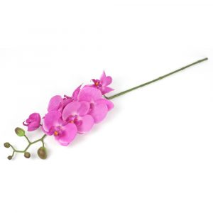 Haste de Orquídea 3D Toque Real 67cm Artificial