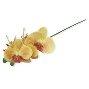 Haste de Orquídea 3D Siliconada Laranja