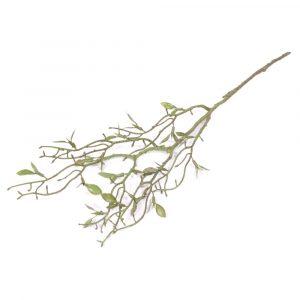Haste de Folha Pequena 52cm Artificial Verde p/ Decoração