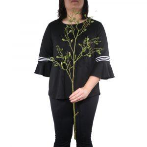 Galho de Folhas Pequenas 90cm Artificial Verde p/ Decoração