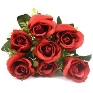 Buquê de Rosas Flor Artificial p/ Decoração