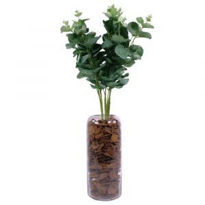 Buquê de Eucalipto Planta Artificial 44cm Decoração