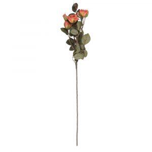 Haste de Rosa c/5 72cm Artificial p/ Decoração