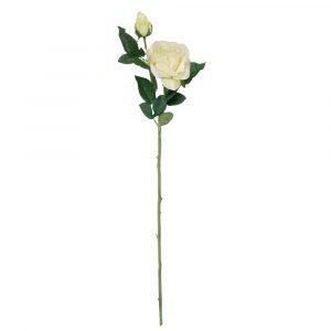Haste Rosa Silicone 65cm Artificial Rosa p/ Decoração