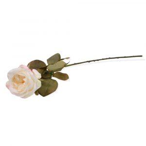 Haste Rosa Europeia 68cm Artificial p/ Decoração