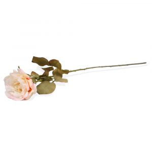 Haste Rosa Silicone 68cm Artificial p/ Decoração